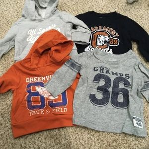 Athletic themed baby clothes bundle